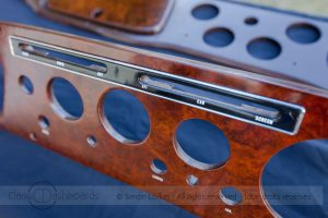 Wooden dashboard restoration with replacement lettering © Simon Lorkin