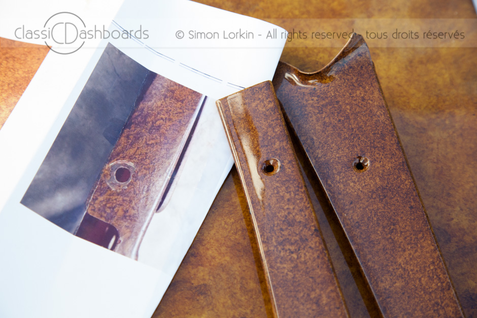 Lancia Metal Dashboard Restoration - Wood effect for dashboards, door cappings and window surrounds.