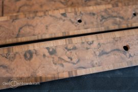 Bentley Classic Car Woodwork Veneering Restoration Project — Book-matched burr walnut veneer